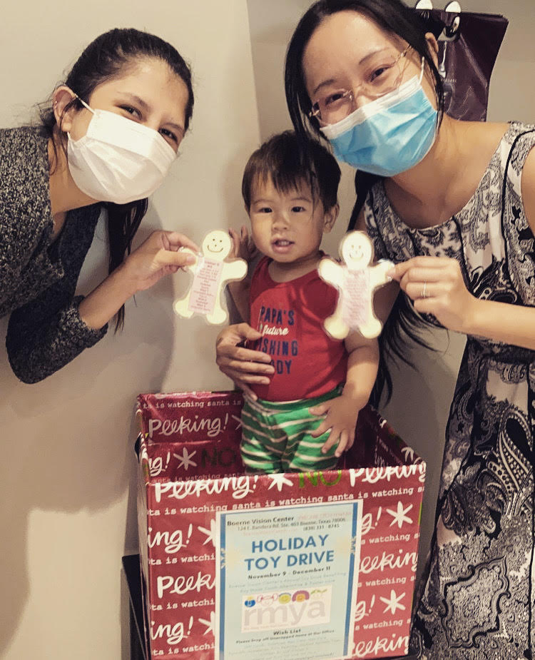 boerne vision center holiday donation drive johnson