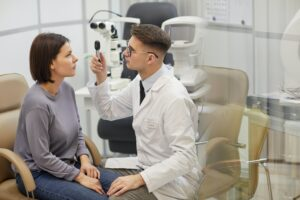 Eye Exam in Ophthalmology Clinic